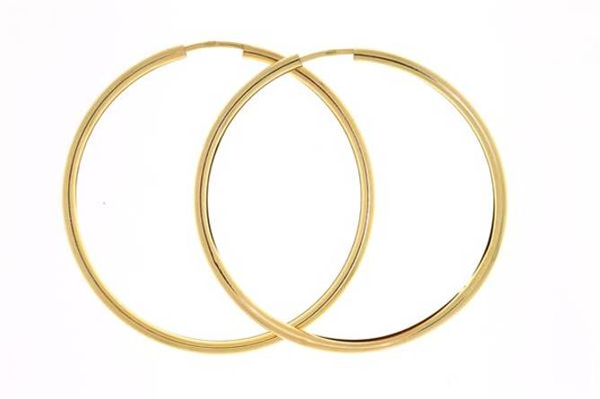 Bilde av Gull øreringer 13mm