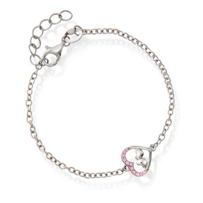 Bilde av Armbånd i sølv, hjerte med