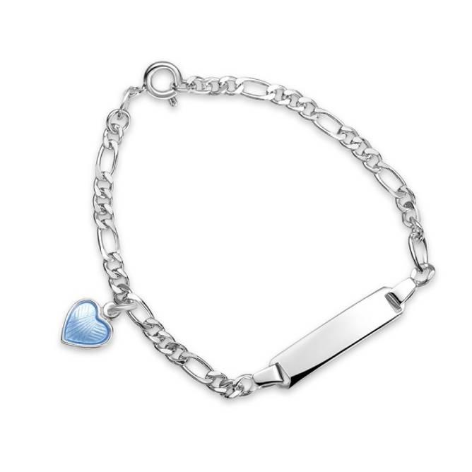 Bilde av Lyseblå hjerte armband