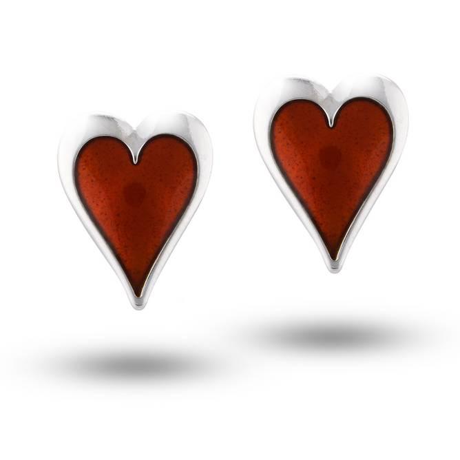 Bilde av Ørepynt, lilla hjerte,