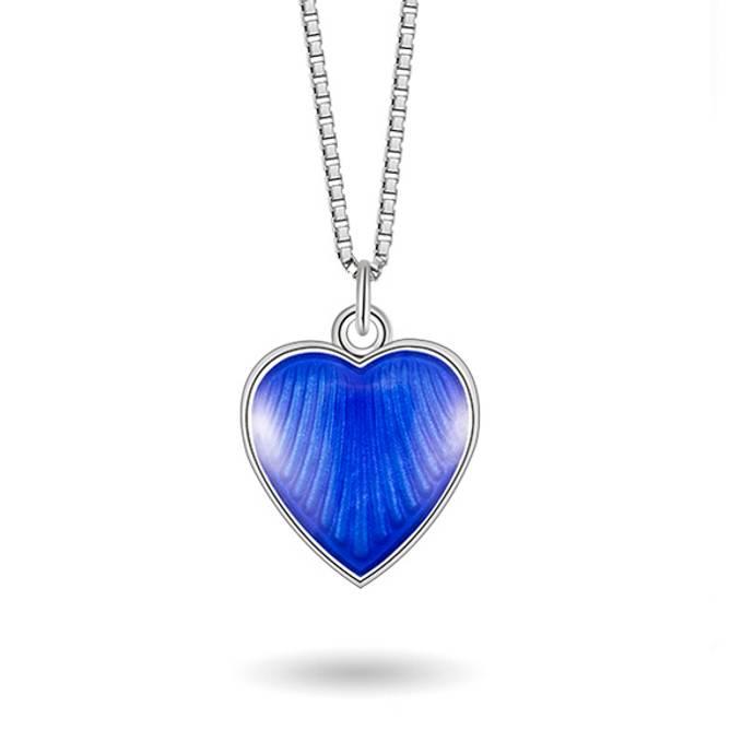 Bilde av Blå hjerte smykke, mellom